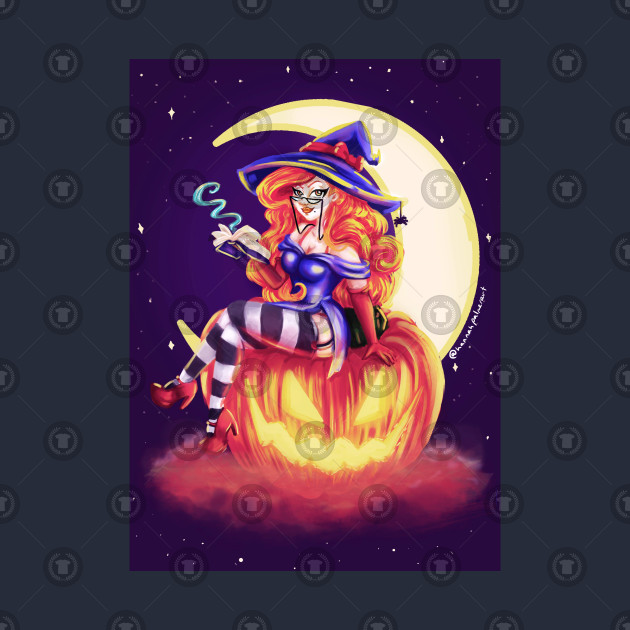 Moonlit Witch Pin Up