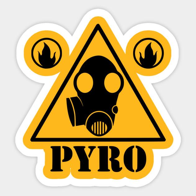 Pyro Sign Team Fortress 2 Sticker Teepublic Au