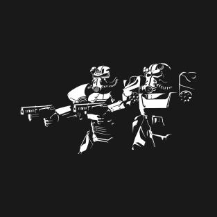 POWER ARMOR FICTION t-shirts