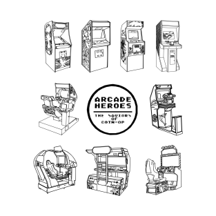 Surrounded By Arcades - Arcade Heroes (B&W)
