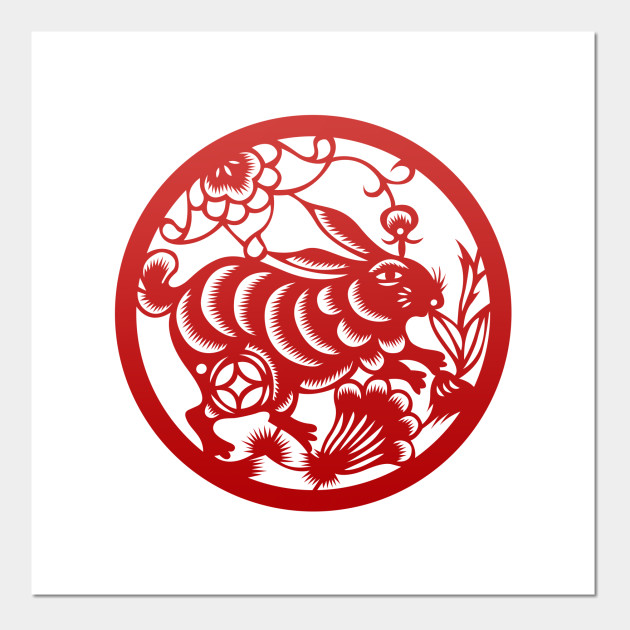 Chinese Zodiac Rabbit in Red