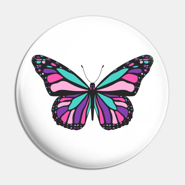 Thyroid Cancer Butterfly Thyroid Cancer Pin Teepublic Au