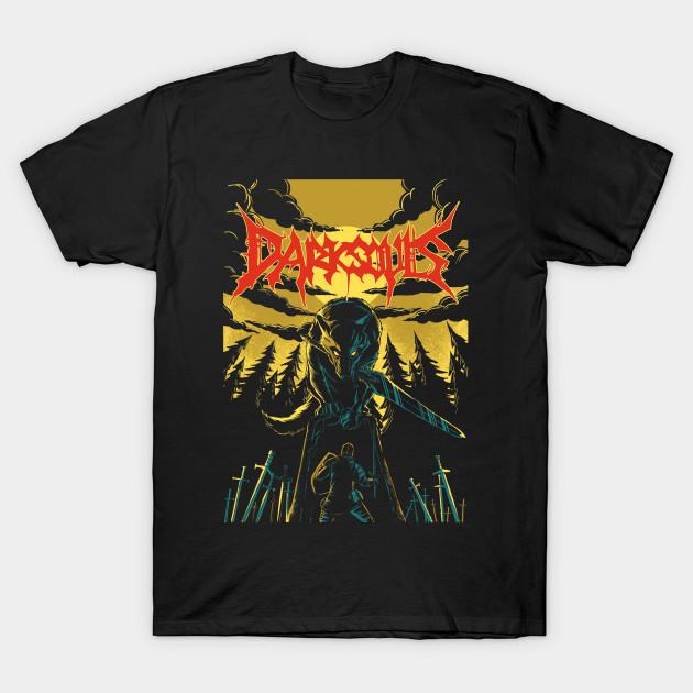 unofficial dark souls metal band tee gaming t shirt. Black Bedroom Furniture Sets. Home Design Ideas