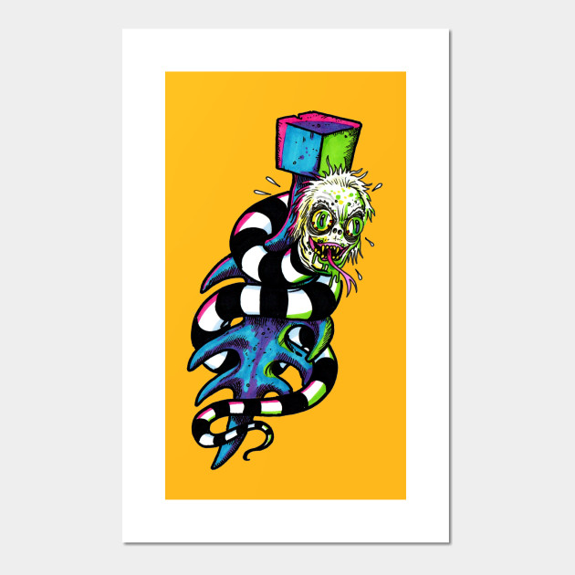Beetlejuice Tattoo Ting Michael Keaton Posters And Art Prints Teepublic
