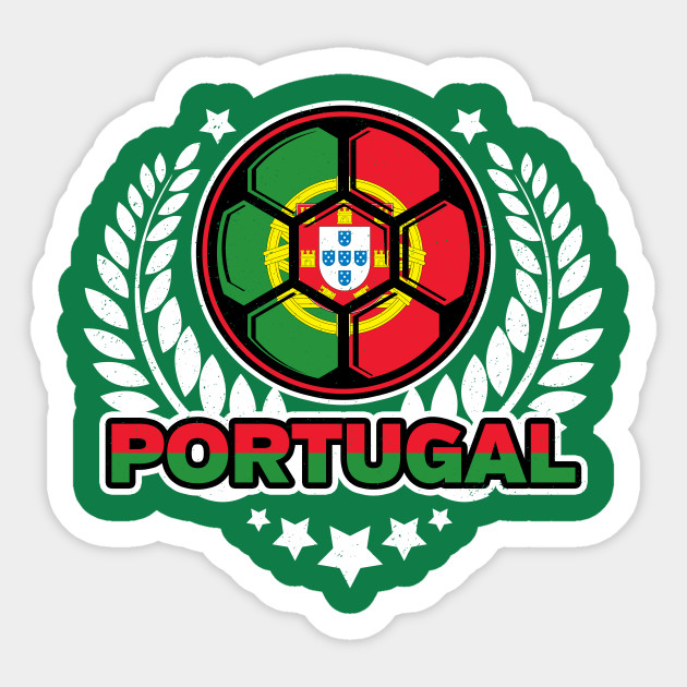 Distressed Flag Of Portugal Soccer Ball Victory Laurel Wreath