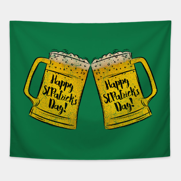 dd56801fe Funny St Patrick's Day 2019 Beer Drinking Party Tee Beer Lover Gift Tapestry