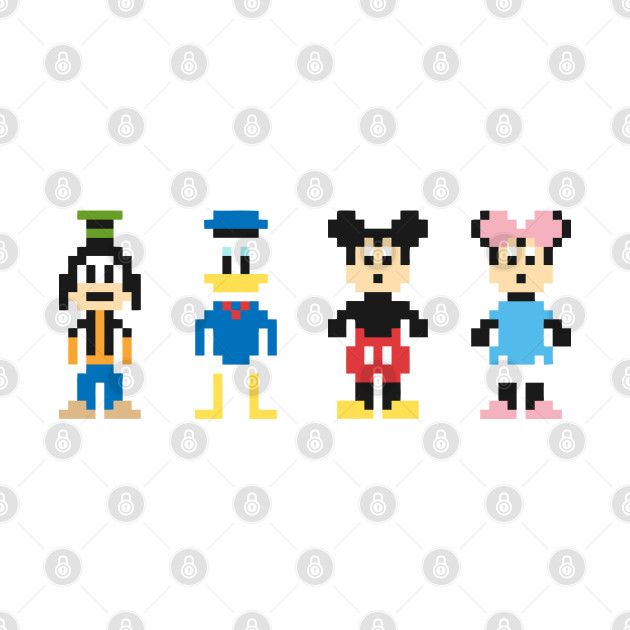 Mickey Mouse Gang Pixel Character