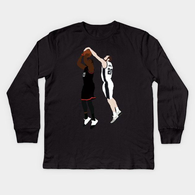 f0d4426ee59 Manu Ginobili Block On James Harden - Manu Ginobili - Kids Long ...