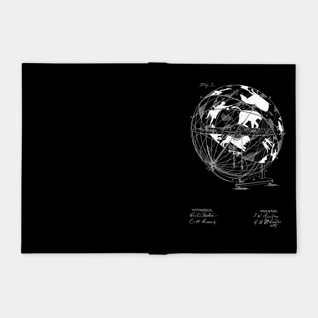 Terrestro sidereal globe Vintage Patent Hand Drawing
