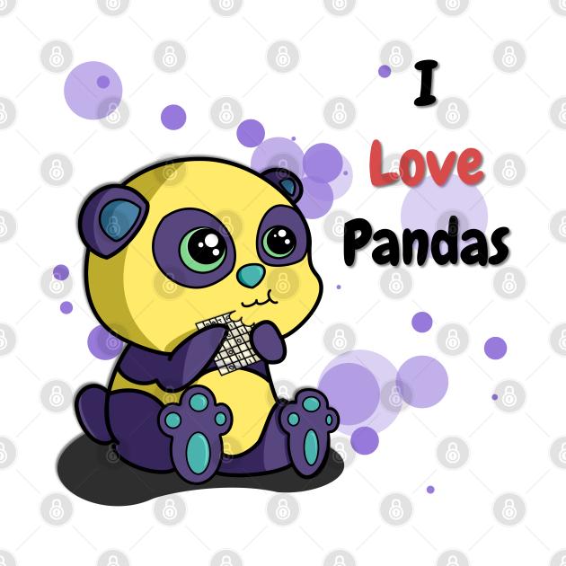 I Love Pandas | Python Dusk Black