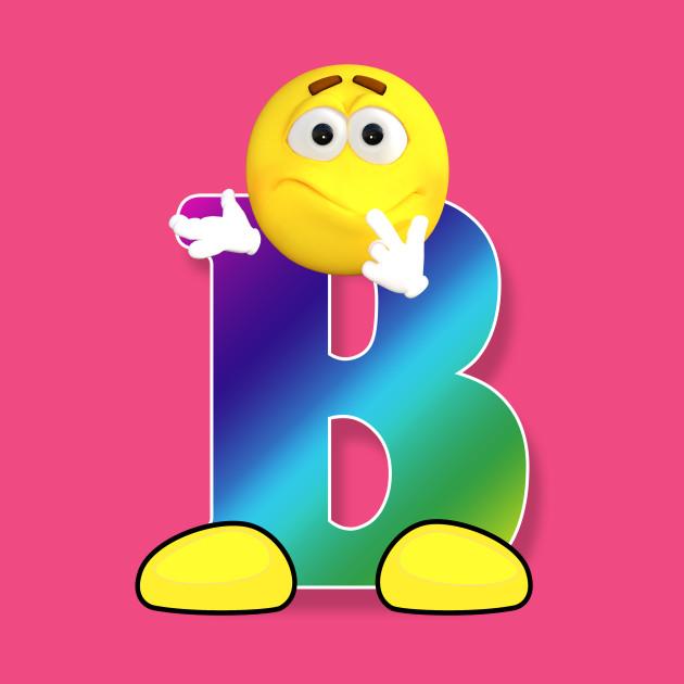 Letter B Alphabet Smiley Monogram Face Emoji Shirt For Men