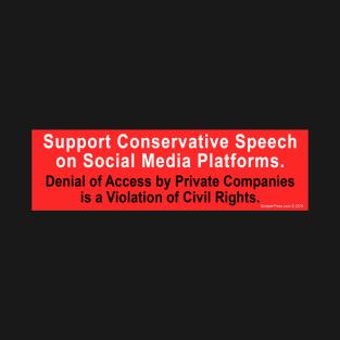 2d3aba503 Support Conservative Speech T-Shirt