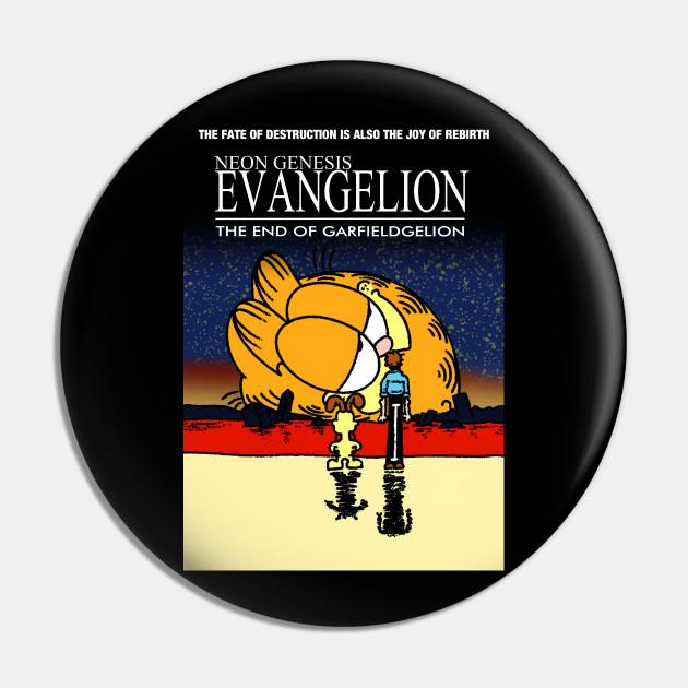 Neon Genesis Evangelion Garfield Meme Neon Genesis Evangelion Garfield Pin Teepublic