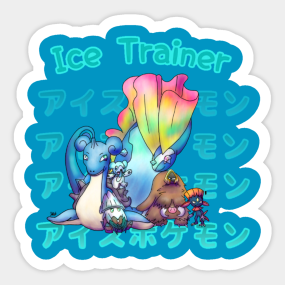 Ice pokemon stickers teepublic sciox Choice Image