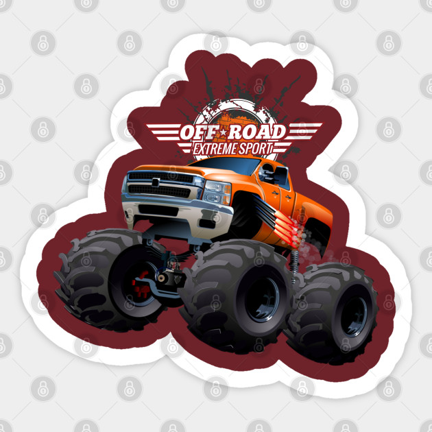 Off Road Monster Truck Monster Trucks Pegatina Teepublic Mx