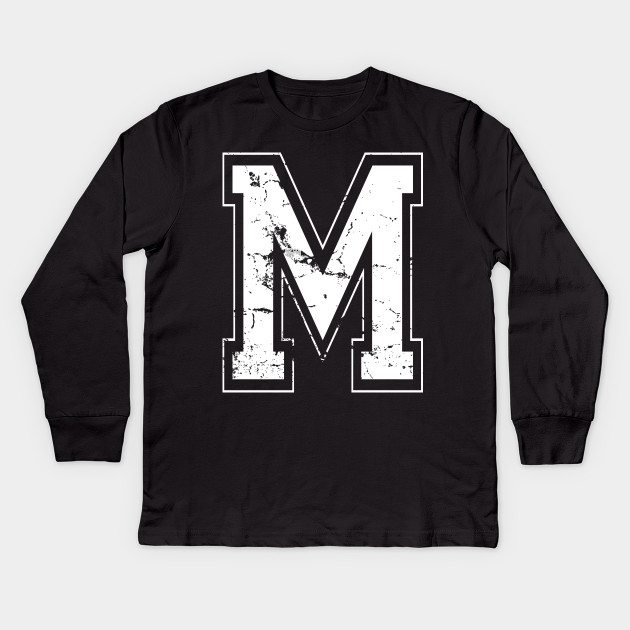 Initial Letter M White Jersey Sports Athletic Player