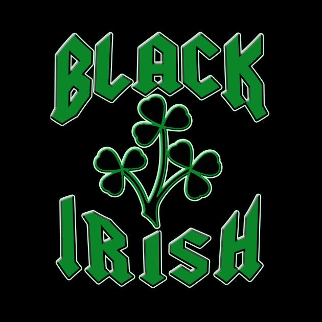 St Patricks Day Black Irish with Shamrocks