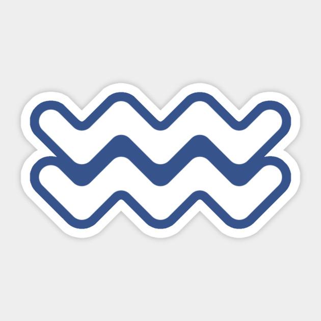 Aquarius Zodiac Symbol Aquarius Sticker Teepublic
