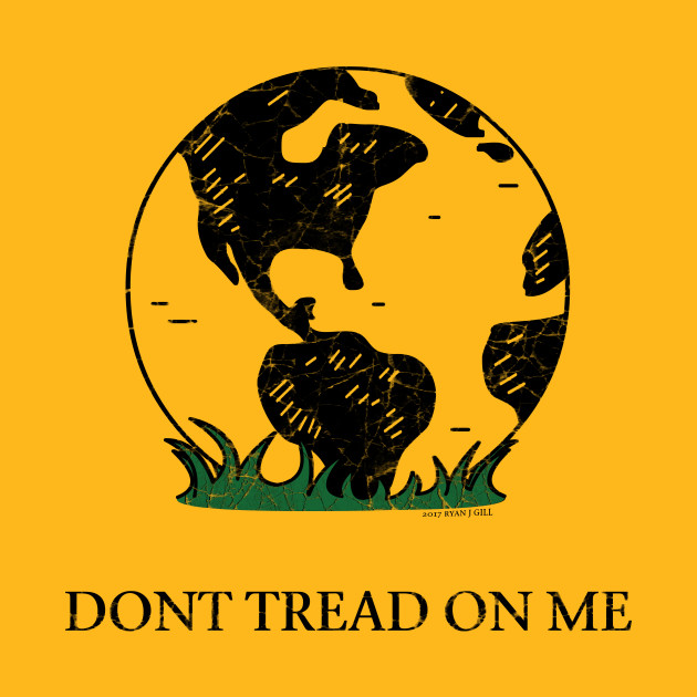 earth gadsden flag don t tread on me earth gadsden flag t