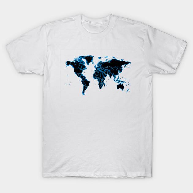 World Map Design World Map T Shirt Teepublic