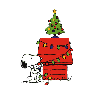 christmas snoopy lights t shirt