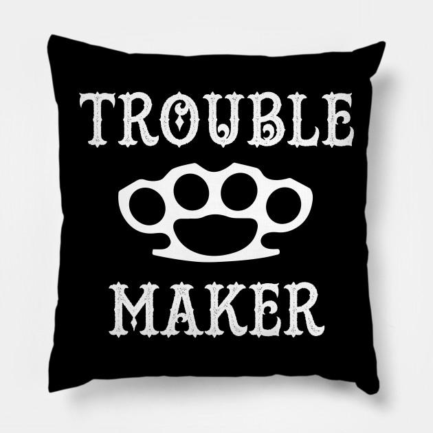 trouble maker brass knuckles t shirt tee trouble maker brass