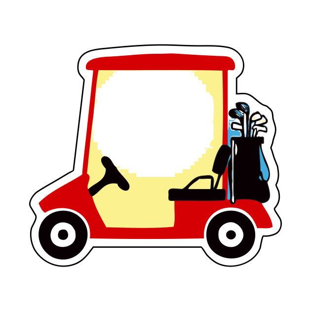LIMITED EDITION. Exclusive Golf Cart on red shopping cart, red push cart, red golf card,