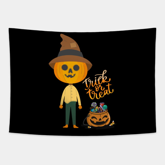 Trick r Treat Funny Cute Halloween Pumpkin Scarecrow Gift
