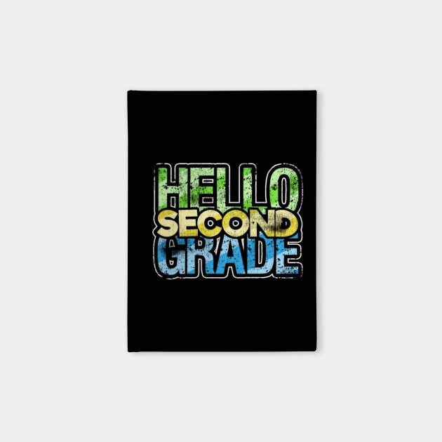 Hello second 2nd grade team teacher stud tee back to school
