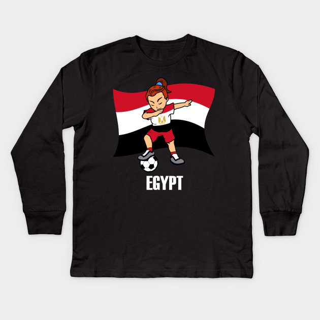 competitive price e0e06 97d25 Dabbing Soccer Girl Egypt Soccer Jersey Egyptian Flag