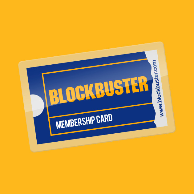 Membership Card  Blockbuster  TShirt  Teepublic