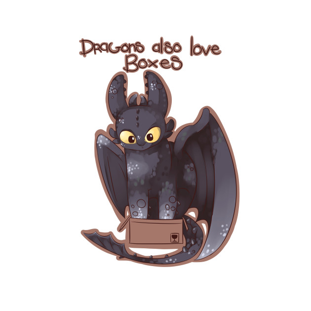 Even dragons love boxes