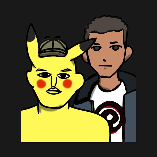 472dad6a Pikachu and Tim Goodman - Detective Pikachu Movie - T-Shirt | TeePublic