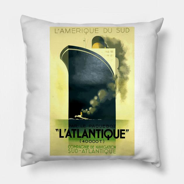 L'Atlantique Ocean Liner - Iconic Art Deco Travel Poster Design by A M Cassandre