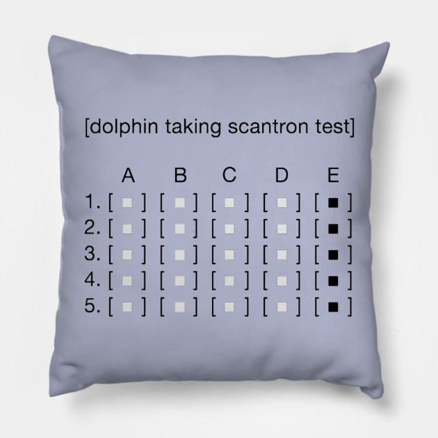 Dolphin Taking Scantron Test ASCII Meme by altohombre