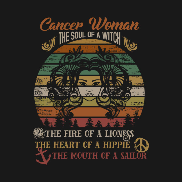 Cancer Woman Gift The Soul Of Witch Shirt June July Birthday