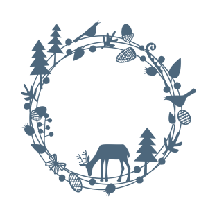 Winter Woodland Papercut Circle