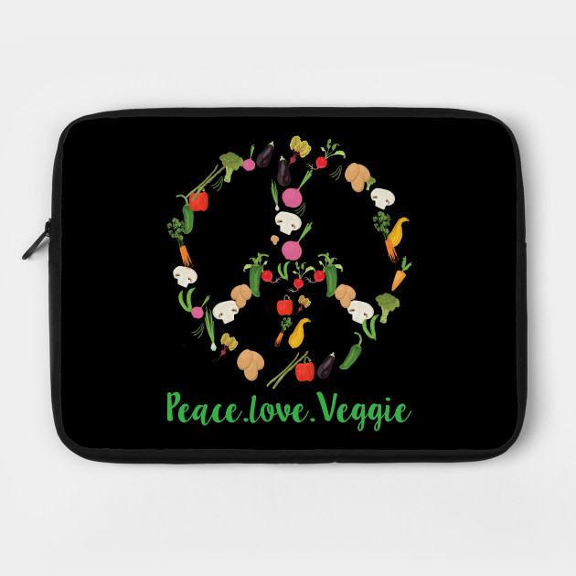 Peace Love Veggie Vegan Shirt Plant Based Vegetarian Tee