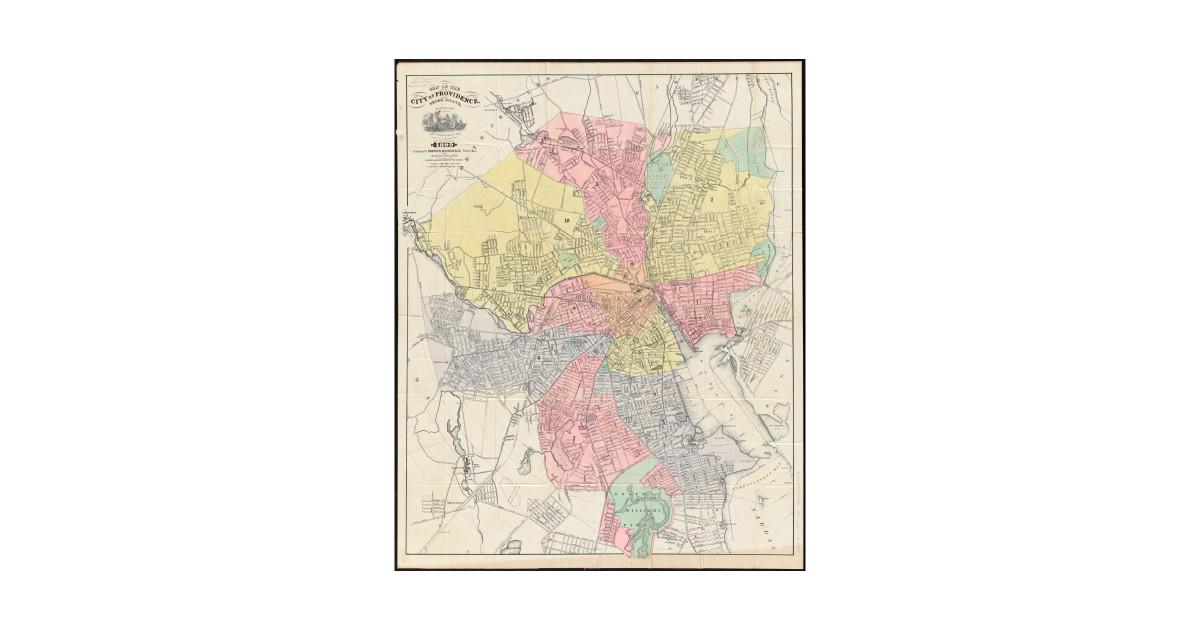 Vintage Map of Providence Rhode Island (1899) by bravuramedia