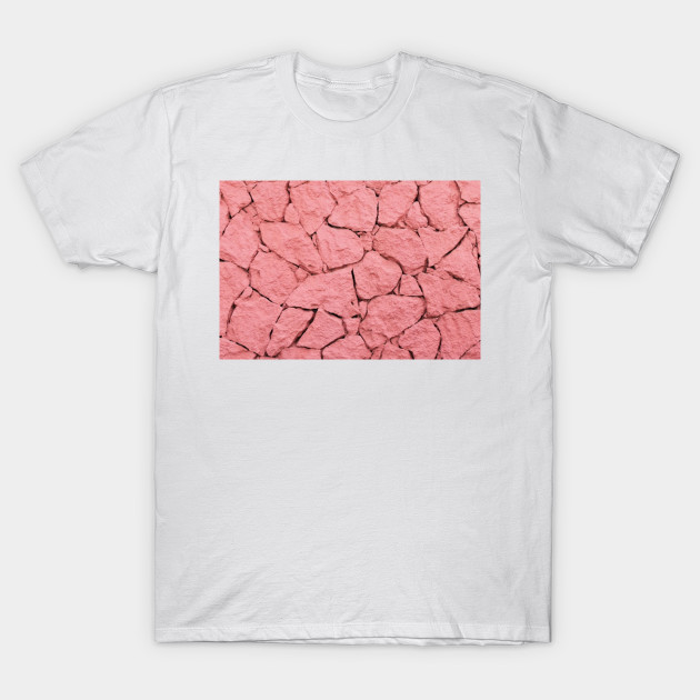 PASTEL PINK ROCK ABSTRACT PATTERN AND TEXTURE - Pink - T-Shirt ...
