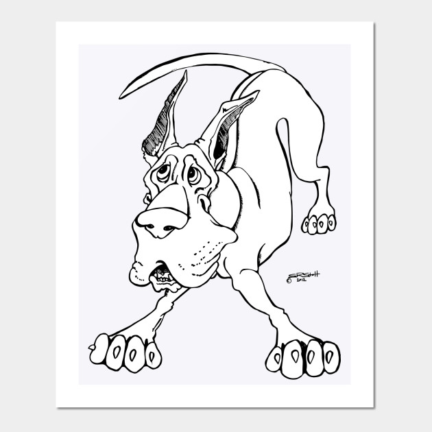 COLOR YOUR OWN TEE Great Dane