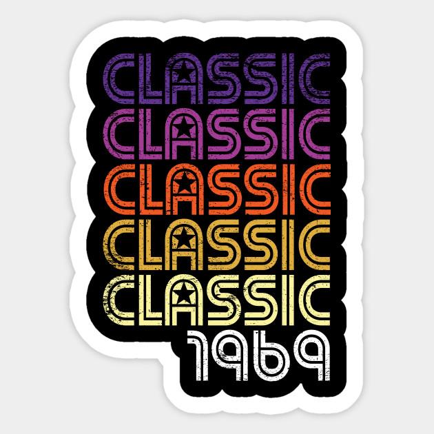 Retro Classic Graphic 50 Years Old 50th Birthday Gift Sticker