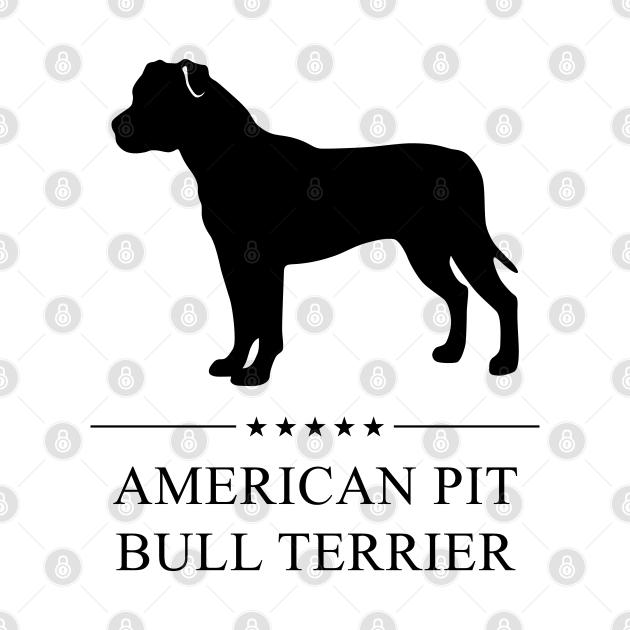 American Pit Bull Terrier Black Silhouette