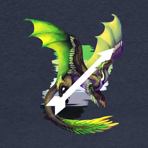 Aromantic Pride Dragon