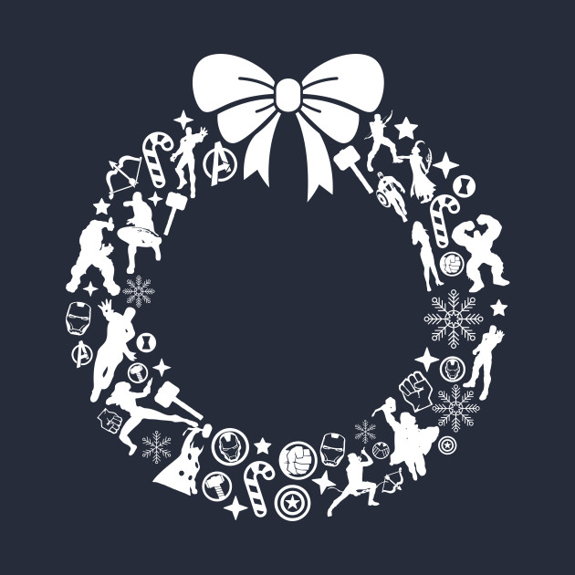 Avengers Christmas Wreath Pattern