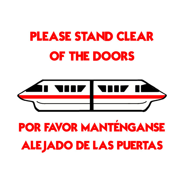 Please Stand Clear Of The Door Red Disney T Shirt