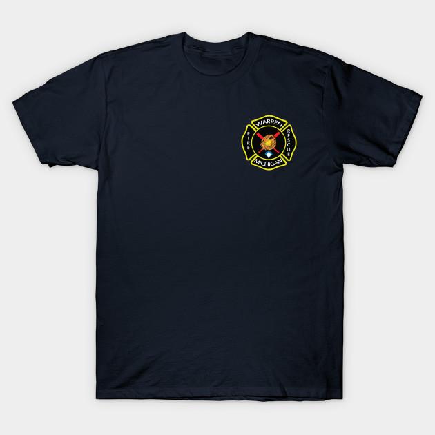 Warren Fire Dept Softball Players Warren Fire Department T Shirt