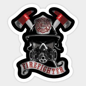 Firefighter. Sticker
