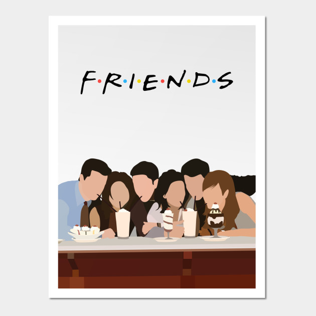 Tv Show Poster Friends American Drama Movie Vintage: Friends Serial Minimalist - Life - Posters And Art
