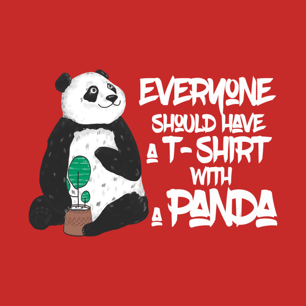 Cute Panda T-Shirt For Panda Lovers